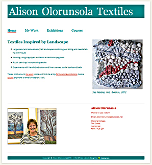 Alison Olorunsola, textile artist, by Applegreen Websites
