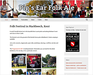 Pig's Ear Folk Ale music festival