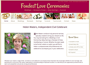 Fondest Love Ceremonies, weddings, baby namins and funerals