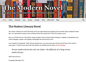 The Modern Novel, a celebration of 20th century literary novels by John Alvey