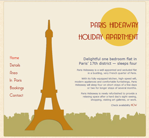 Paris Hideaway, secluded holiday apartment in the 17th district