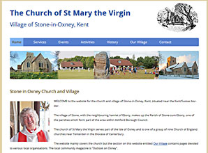 Stone in Oxney church and village website